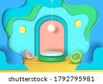 illustration vector of platform ...   Shutterstock .eps vector #1792795981