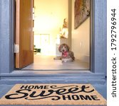 Welcome Door Mat With Pet Dog