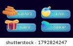 set of fantasy gui template...