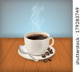 realistic cup with black... | Shutterstock .eps vector #179283749