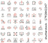 vector set of linear icons... | Shutterstock .eps vector #1792842247