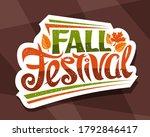 vector lettering fall festival  ...   Shutterstock .eps vector #1792846417