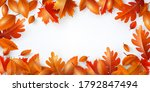 autumn background poster and... | Shutterstock .eps vector #1792847494