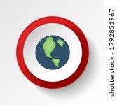 planet earth colored button...