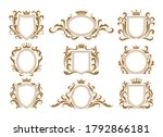 luxury monogram shields. royal... | Shutterstock .eps vector #1792866181