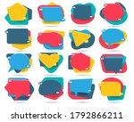 frames for remarks. cartoon... | Shutterstock .eps vector #1792866211