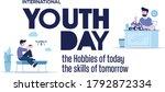 international youth day  12... | Shutterstock .eps vector #1792872334