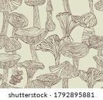 Vector Lineart Mushrooms...