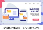 business mailing email...   Shutterstock .eps vector #1792896691