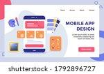 mobile app design wireframe on...