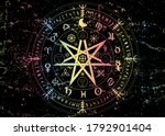 wiccan symbol of protection.... | Shutterstock .eps vector #1792901404