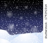 falling snow against the dark... | Shutterstock . vector #179292314