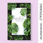 vector tropical frame with... | Shutterstock .eps vector #1792926061