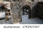 Small photo of amazing historical fort counteracted by stones, the large size rooms