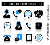 call center service icons set... | Shutterstock .eps vector #179293619