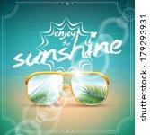 vector summer holiday design...   Shutterstock .eps vector #179293931