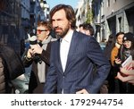 Small photo of Milan, Italy. Janury 12 2020: Ex soccer player Andrea Pirlo walking in Paullo street after pubblic conference in Milan, Lombardy, Italy.