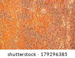 the rust on iron plate for... | Shutterstock . vector #179296385