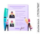 work descriptions  recruitment...   Shutterstock .eps vector #1792967887