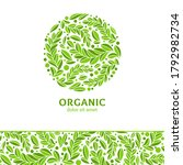 green abstract leaf emblem....   Shutterstock .eps vector #1792982734