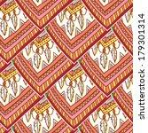 seamless romb ethno tribal... | Shutterstock .eps vector #179301314