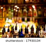 Small photo of Bottles of spirits and liquor at the bar