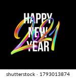 colorful brushstroke paint... | Shutterstock .eps vector #1793013874