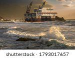 Oil Platform Lifted By Storm On ...