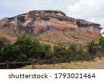 Sandstone Cliffs Of The Maluti...