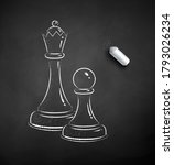vector black and white chalk... | Shutterstock .eps vector #1793026234