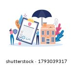 property insurance policy... | Shutterstock .eps vector #1793039317