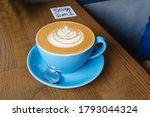 Cup Of Coffee With Latte Art...