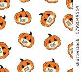 corona halloween pumpkin... | Shutterstock .eps vector #1793049514