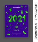 happy new year 2021 and merry... | Shutterstock .eps vector #1793060431