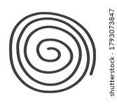 hand drawn spiral   cyclic... | Shutterstock .eps vector #1793073847