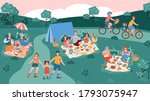 summer park background with...   Shutterstock .eps vector #1793075947
