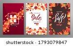 autumn fall season sale poster... | Shutterstock .eps vector #1793079847
