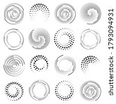speed lines in circle form.... | Shutterstock .eps vector #1793094931