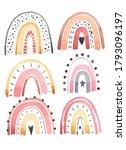 watercolor rainbow illustration ...   Shutterstock . vector #1793096197