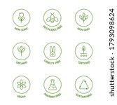 organic stickers. gmo free... | Shutterstock .eps vector #1793098624