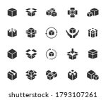 vector set of box flat icons.... | Shutterstock .eps vector #1793107261