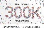 300k followers. group of... | Shutterstock .eps vector #1793112061