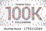 100k followers. group of... | Shutterstock .eps vector #1793112064