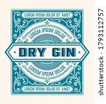 full liquor label design with... | Shutterstock .eps vector #1793112757