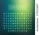 set of 100 simple universal... | Shutterstock .eps vector #179311847