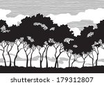 trees silhouettes. black trees ... | Shutterstock .eps vector #179312807