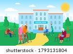 cartoon color nursing home... | Shutterstock .eps vector #1793131804