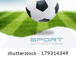 soccer ball on green stadium | Shutterstock . vector #179314349