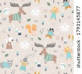 seamless childish pattern with... | Shutterstock .eps vector #1793145877