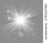 white glowing light explodes on ... | Shutterstock .eps vector #1793147587